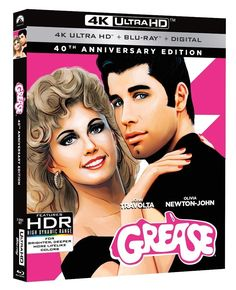 Paramount Home Entertainment/Paramount Home Media Distribution have announced the Grease: Anniversary Edition Ultra HD, Blu-Ray (with Yearbook), Blu-Ray, DVD and Digital HD versions of the movie! Olivia Newton John, Danny Zuko, Sandra Dee, John Travolta, Pink Lady, Eve Arden, Stockard Channing, Fantasy, Germany
