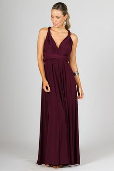 Multi-Way Wrap Maxi Mulberry - Get This Sexy Dress Online