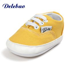 ce7d8257ce05 Infant Baby First Walkers Fashion Stort Canvas Moccasins Lace Up Sneakers  Gummi Sole Toddlers Baby Sko