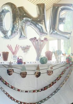 First Birthday party - Candy Bar, decorations
