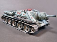 SU-122 with a Camo Pattern