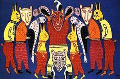 Animal circus, Maria Pryimachenko, 1977