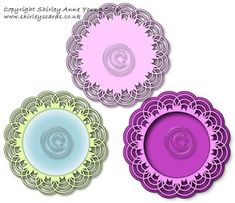 Shirley's Cards: Scalloped Circle Topper Freebie