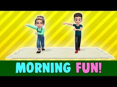 12 Min Kids Exercise: Morning Fun (Let s Get Active! Physical Activities For Kids, Pe Activities, Movement Activities, Physical Education Games, Zumba Kids, Gym Games, Brain Gym, Brain Breaks, Exercise For Kids