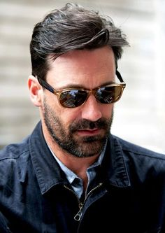 Men With Scruff - Jon Hamm  I totally have those sunglasses. I knew he was awesome!