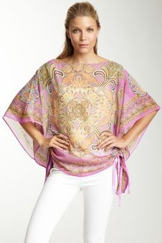 Silk Chiffon Adjustable Tunic
