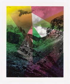"""Shirana Shahbazi. Composition with Mountain (for Parkett no. 94). 2014. Lithograph on gelatin silver print. composition: 19 3/4 × 15 3/4"""" (50.1 × 40 cm); sheet: 22 1/16 × 18 1/8"""" (56 × 46 cm). Parkett Publishers, Zurich and New York. Steindruckerei Wolfensberger, Zurich, Tricolor Photoprint, Zurich. 35. Gift of Dr. Samuel Mandel, Nina and Gordon Bunshaft Bequest, gift of Mrs. Len Houzer, and gift of Sue and Edgar Wachenheim III (all by exchange). 695.2015. © 2016 Shirana Shahbazi. Drawings…"""