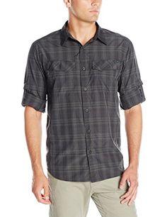 Columbia Mens Silver Ridge Plaid Long Sleeve Shirt Black Mid Plaid XXLarge      Click d3d79e325