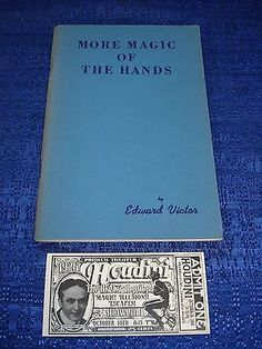 VINTAGE 1970 EDWARD VICTOR MORE MAGIC OF THE HANDS BOOK Collectibles:Fantasy, Mythical & Magic:Magic:Books, Lecture Notes www.webrummage.com $39.99