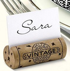 Cork place cards    Save Me, San Francisco Wine Co's Blog - Train