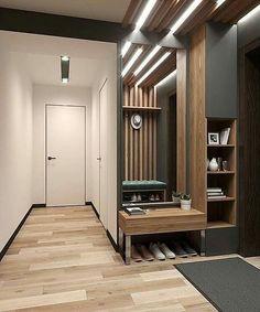 Hallway Furniture, Home Decor Furniture, Interior Cladding, Home Entrance Decor, Japanese Home Decor, Hallway Designs, Small Room Design, House Front Design, Hallway Decorating