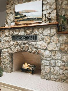 Herringbone Tile Fireplace in Tumbleweed | Fireclay… | Fireclay Tile Tile Fireplace, Fireplace Remodel, Fireplace Design, Herringbone Tile Pattern, Pet Friendly Apartments, Hexagon Backsplash, Nantucket Style, Fireclay Tile, Glass Brick