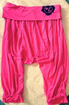 Our Fit Fluro Pink harem Yoga Dance Genie Pants