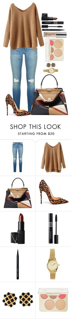 """Untitled #1174"" by fabianarveloc on Polyvore featuring Rebecca Minkoff, Fendi, Christian Louboutin, NARS Cosmetics, Christian Dior, Bobbi Brown Cosmetics, H&M, Chanel, Becca and Urban Decay"