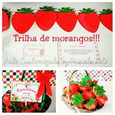 Brincadeira Caça aos Morangos!! Festa em casa Moranguinho! Orçamento por email : artepriscilakato@gmail.com