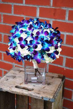 Blue Dendrobium Orchid Bouquet
