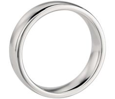 Comfort Fit Wedding Ring 18k White Gold