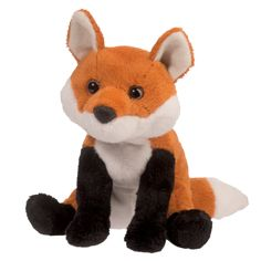 """6"""" sitting stuffed red fox, Suzette, is all kinds of cute! Realistic red, black and white coloring in ultra soft and cuddly plush!"""