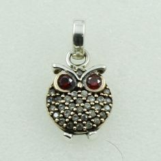 925 STERLING SILVER OWL SHAPED PENDANT WITH CUBIC ZIRCONIA STONE #SilvexImagesIndiaPvtLtd #Pendant
