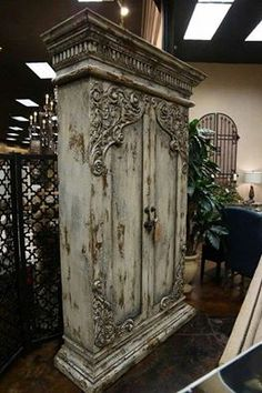 Beautiful Victorian Carved Locked Closet..