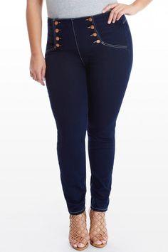 Plus Size Incline High Waist Skinny Jeans | Fashion To Figure