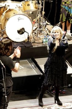 and another a great close-up of Dave Grohl and Stevie ~ ☆♥❤♥☆ ~ performing at the Sound City Players concert at Hammerstein Ballroom on February 13th, 2013 ~ she performed Fleetwood Mac songs including 'Landslide' with 'Dave on guitar. He was moved to tears by the end of that song. It's such a beautiful song and to hear it sung live by Stevie was a highlight of the night. The night ended with 'Gold Dust Woman'