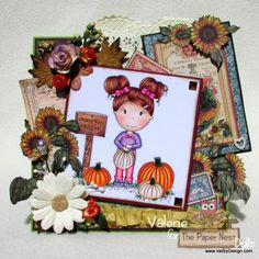 A Card for Fall with the Paper Nest Dolls! - ValByDesign