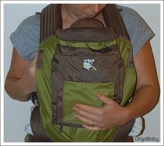 And...you're ready to roll - How to boost up a baby in a carrier that's a little too long.