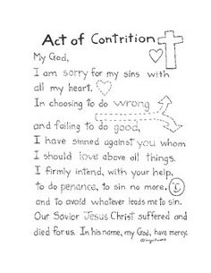 Help your students memorize the Act of Contrition with this printable.http://www.teacherspayteachers.com/Store/Ingrids-Art