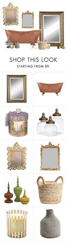 """salle de bain vintage"" by hloe2 on Polyvore featuring interior, interiors, interior design, thuis, home decor, interior decorating, Uttermost en vintage"