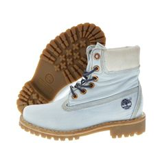 Timberland Women's LTD Fabric 6 Inch Denim Boot Light Blue