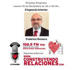 Programa con Federico Romero, hablando sobre Elegancia Interior.