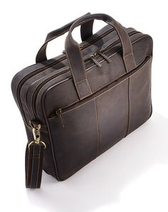 Oiled Leather Laptop Bag.  Purchased in Winnipeg. Feels heavy after prolonged use. Heavier than other similar bags.