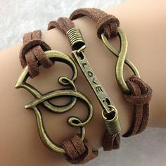 Vintage Double Heart Bracelet