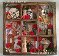 Red Queen Shadowbox by Rhea Freitag for our sponsorship of the May 2012 Challenge at The Altered Alice