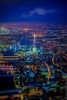 The Thames and the Shard at night. Photo: Vincent LaForet, AIR London