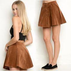 c25929d9aac 2016 New High Waist Corduroy Women s Skirt Buttons Sexy Mini Saia Solid  A-line Jupe Autumn Faldas Short Skirts For Women