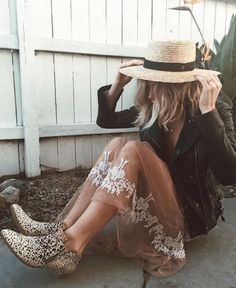 Pattern mixing and straw boater hats