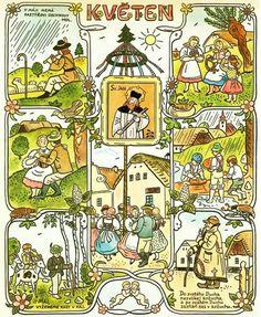 Contemporary Decorative Art, Naive Art, Children's Book Illustration, Xmas Cards, Four Seasons, Flower Art, Childrens Books, Illustrators, Folk Art