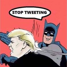Summoning the bat signal.