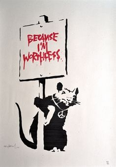 Because I'm Worthless (Signed - Authenticated) by Banksy on artnet Auctions