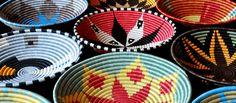 Woven baskets from Rwanda - Fair Winds Trading