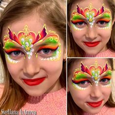 Princess Face Painting, Girl Face Painting, Mask Painting, Face Painting Designs, Face Paintings, Paint Designs, Face Paint Makeup, Fantasy Makeup, Body Art