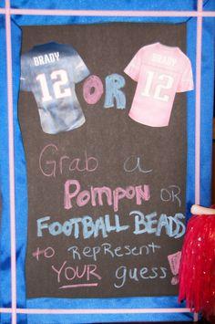 Football gender reveal, patriots theme