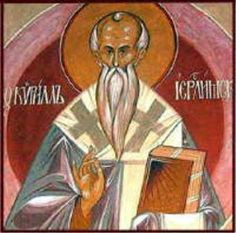 "St. Cyril of Jerusalem,Doctor of the Church is the Doctor of Faith and against Heresy.""Make your fold with the sheep; flee from the wolves: depart not from the Church,"""