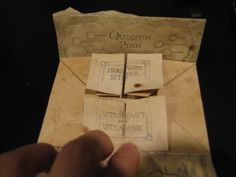Harry Potter Crafts: Mini Marauders Map Tutorial on Finding My Way at http://kfsfindingmyway.blogspot.com/2012/02/mini-marauder-maps.html