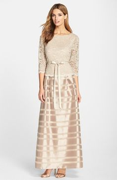 Alex Evenings Lace Bodice Gown available at #Nordstrom