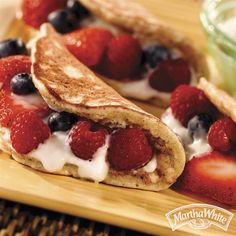 Banana Berry Pancakes from Martha White® are a sweet way to start a Summer morning.