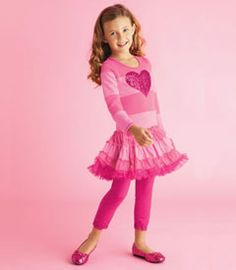 glitter heart twirl dress - She's a vision of cuteness in this twirly dress. Pieced stripes make up the bodice and sleeves, and a flouncy tulle pettiskirt flares out at the dropwaist. An appliquéd sequin heart sparkles front and center.