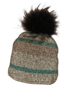 Bommelmütze Wintermütze mit Contrast Bommel Herren Damen Mütze